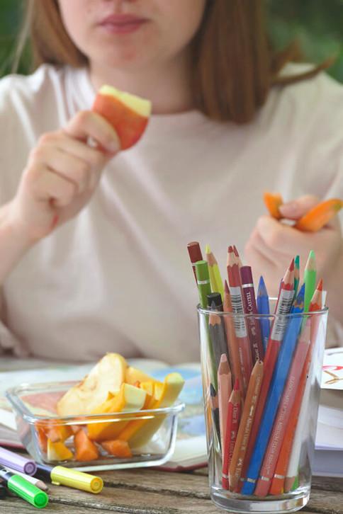 Gesunde Jause aus Obst und Gemüse
