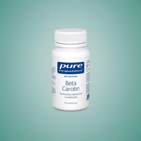 Beta Carotin trägt zu einer normalen Funktion des Immunsystems bei und ist bei Pure Encapsulations ideal in Kapseln dosiert.