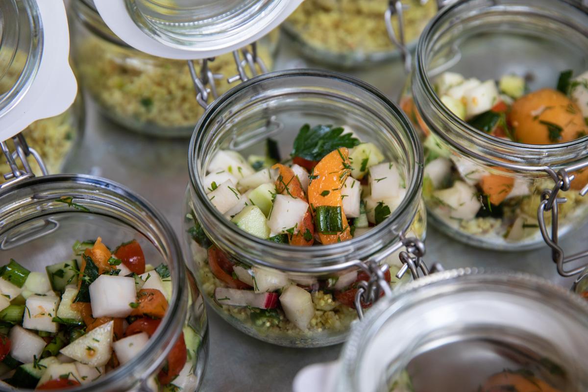 quinoa karfiol salat im glas healthy life blog. Black Bedroom Furniture Sets. Home Design Ideas