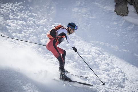 Jakob Herrmann auf Ski