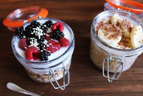 Probiotisches Joghurt mit Prebiotika