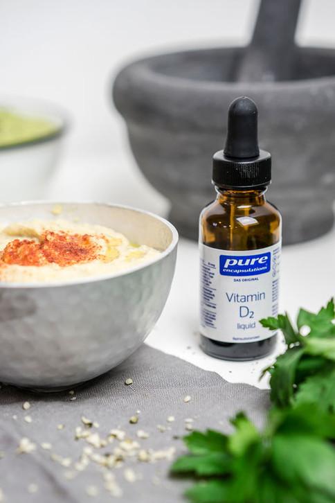 Klassisches Hummus Rezept mit Vitamin D2