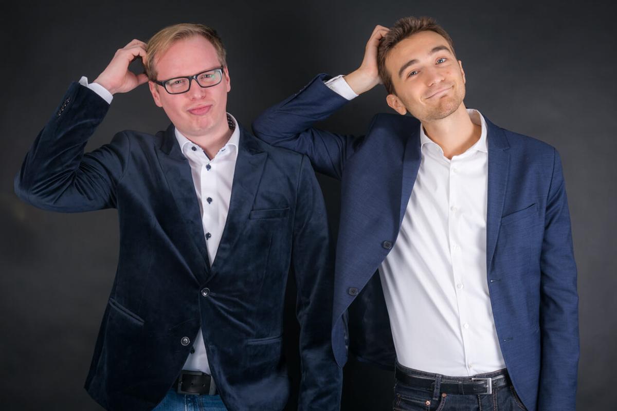 Gedächtnistrainer Manuel Rothwald und Ricardo Leppe von megamemory